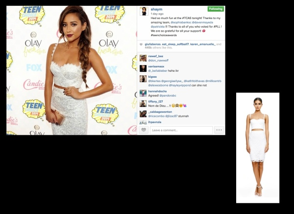 shay mitchell TCA outfit